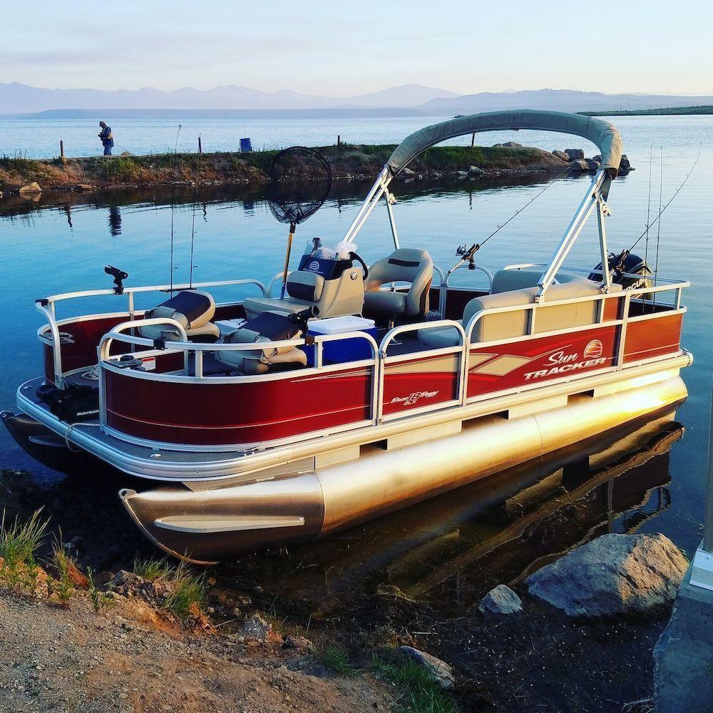 pontoon boat fishing 1